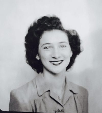 My mother in 1945